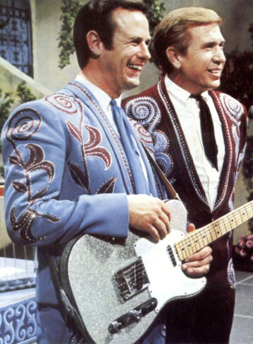 Don Rich (silver metal-flake Fender Telecaster) and Buck Owens