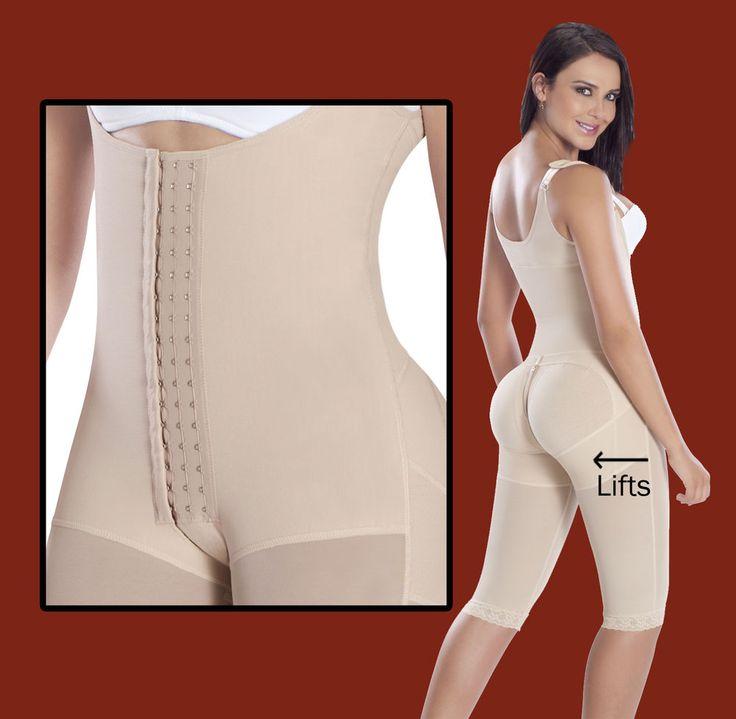 Post-Surgery  Garment High Compression Faja  Butt Lifter, Adjustable Hooks 9152