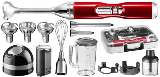 Kitchen Aid Frullatore a Immersione HAND BL.ARTISAN+ACC. ROSSO MET.