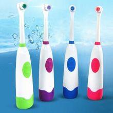 Rotação Anti Deslizamento À Prova D' Água escova de Dentes Elétrica com 2 Cabeças de Escova de Escova De Dentes Oral Higiene Dental Care 4 Cores alishoppbrasil
