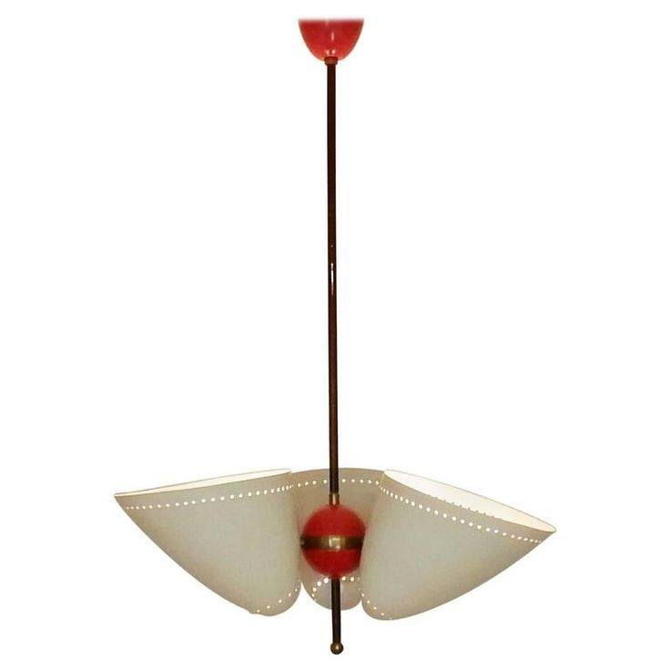 Italian Chandelier in the Manner of Stilnovo, Italy, 1950s 1