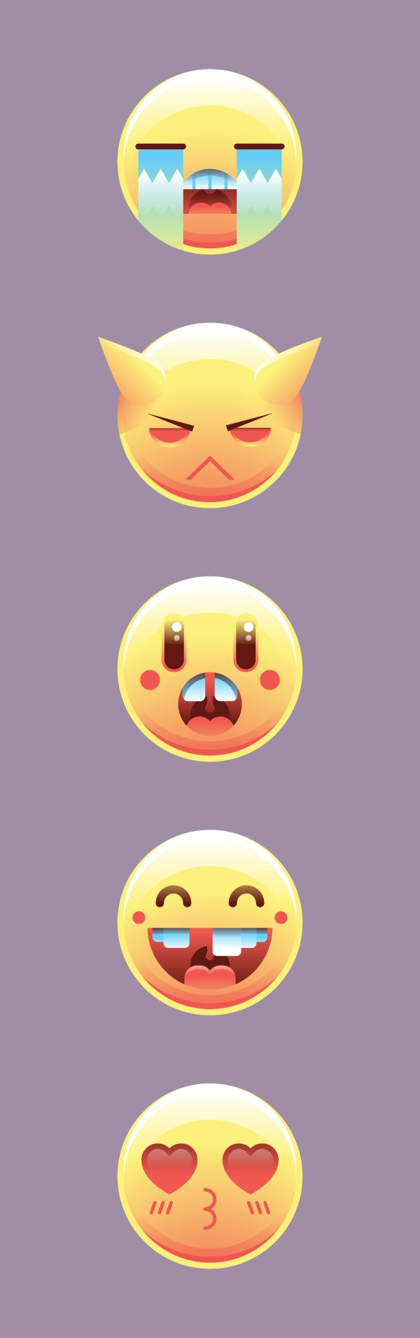 How To Draw A Set Of Emoticons In Adobe Illustrator