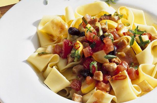 Pappardelle with tuna sauce recipe - goodtoknow
