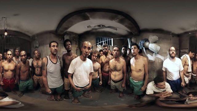 Vídeo em 360 mostra a super lotação dentro de um presídio brasileiro