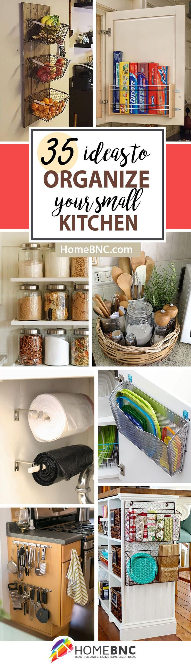 Small Kitchen Storage Organization Decor Ideas
