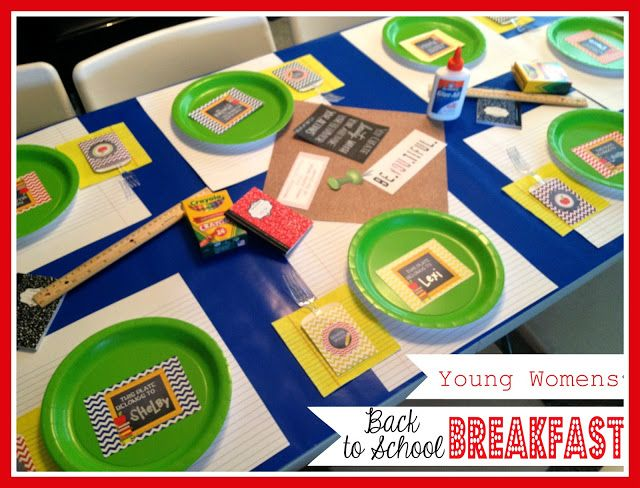 Annual Young Womens Back to School Breakfast. From Marci Coombs Blog