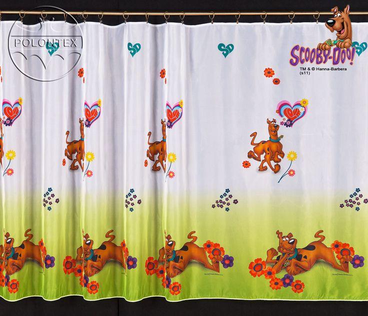Firanka Scooby Doo 160 cm metraż #Firanka_dla_dzieci z motywem rozbrykanego Scooby Doo.   Firanka gotowa od razu do zawieszenia na karnisz.    Wymiary:  wysokość: 160 cm   Firanka ma wszytą taśmę marszącą dzieki czemu jej upinianie nie przyniesie problemów.   Firanka będzie idealnym prezentem dla twojego dziecka.    Dostępna także w wersji gotowej na stronie kasandra.com.pl