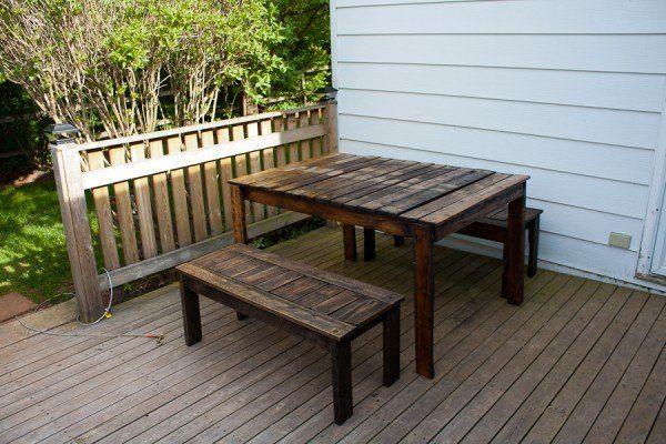 Outdoor Patio Set in pallet furniture pallet outdoor project  with Table Pallets Pallet Furnitures Pallet for Outdoor Project DIY Pallet Ideas Bench