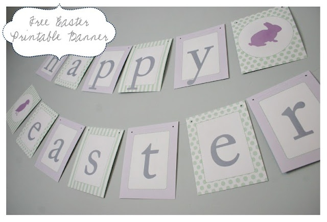 Free Printable Easter Banner!