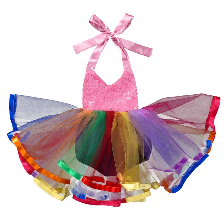 Sequins Rainbow dress Romper Baby Girl Kids sleeveless Princess Lace Dress Party Formal Wedding Tutu Dresses Romper-in Rompers from Mother & Kids on Aliexpress.com | Alibaba Group