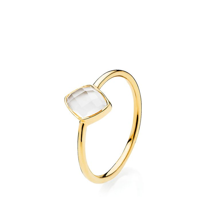 PRECIOUS ring with beautiful white chalcedony. The ring is made of shiny gold plated sterling silver – Danish design jewelry by Izabel Camille. Price: EUR 61 No. A4081gs-white CL   www.izabelcamille.com