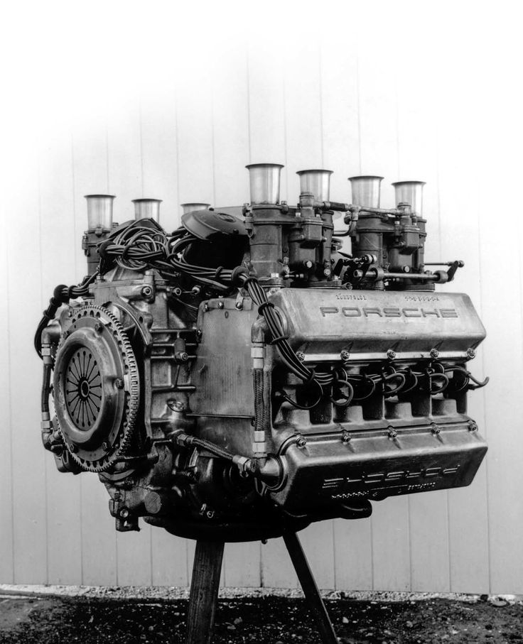 engine of the racing Porsche 904/8. 270 HP, 2.2 liter,air-cooled 8-cylinder boxer
