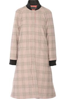 Thakoon Quilted plaid woven coat | NET-A-PORTER