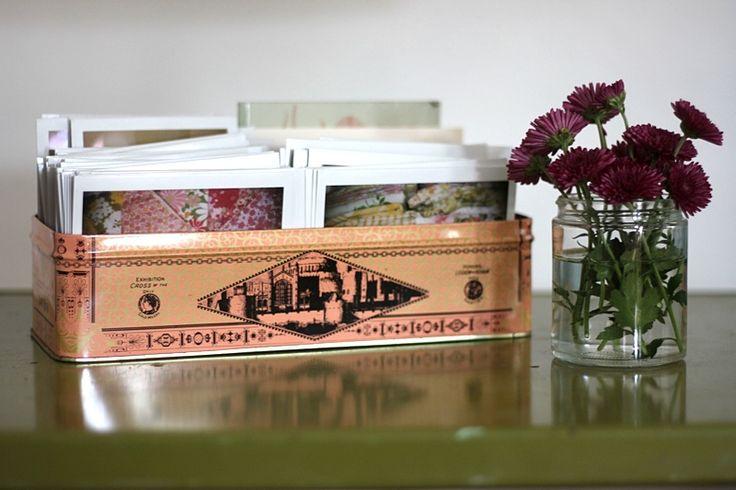 tin box for polaroid display