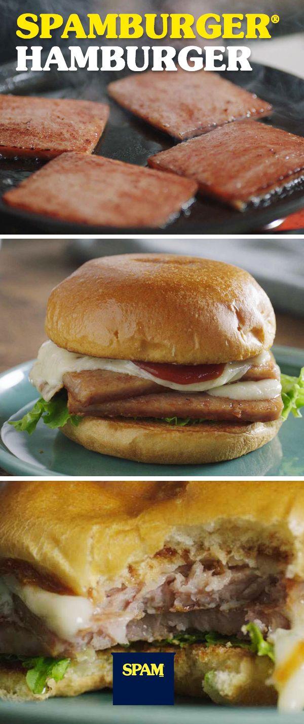Kick ordinary burgers in the buns.Sizzle Pork And Mmm™. | SPAM® Brand | SPAMBURGER® Hamburger | Easy Burger Recipe