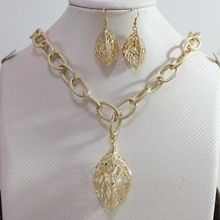 Fashion crystal rhinestone pendants silver/copper plated arc leaf cage long chain jewelry necklace&earrings 34″B895