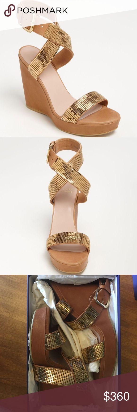 Sandales 9 Nudistsong Tissu Paillette GoldStuart Weitzman tM11K