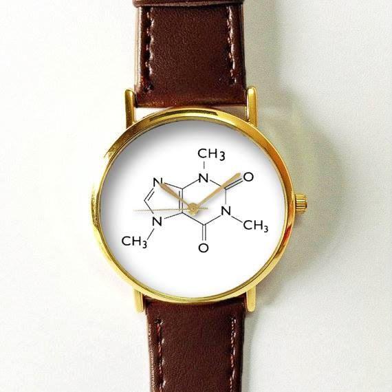 Moléculas de cafeína reloj relojes para hombres por FreeForme