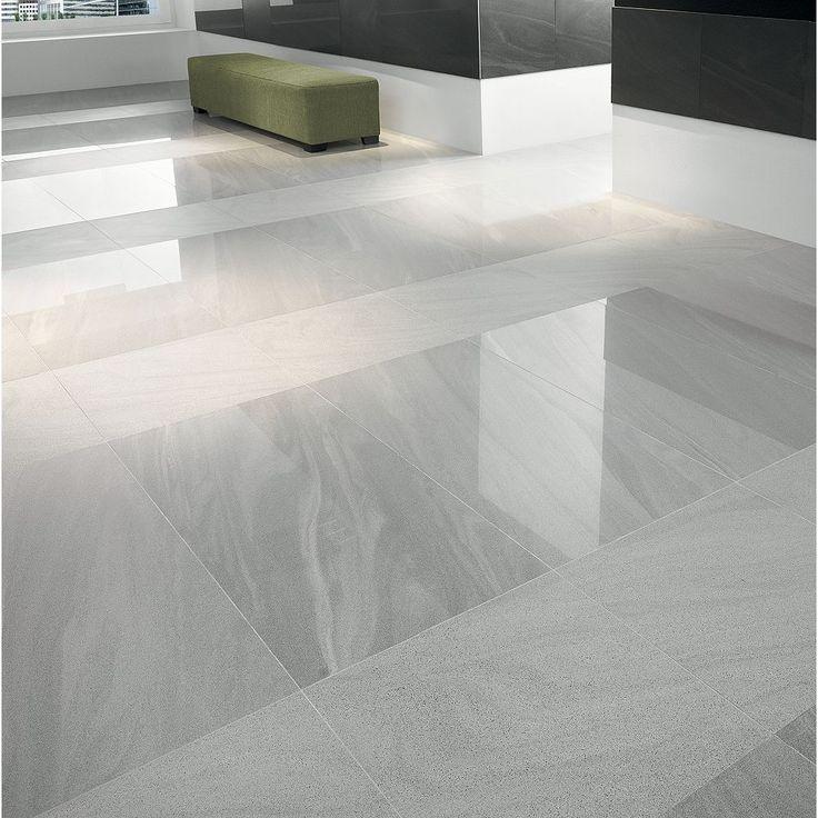 Wickes Arkesia Gris Polished Porcelain Floor Tile 600 X