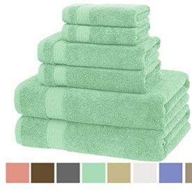 Soft and AbsorbentThe fluffy towel set is woven with ring spun cotton, thus making it super soft, plush and extra absorbent. The stylish border gives it a sophisticated and luxurious look. Set Contains 2 Bath Towels: 30-inch x 54-inch 2 Hand Towels: 16-inch x 28-inch 2 Washcloths: 12-inch x 12-inch Easy to Use These towels […]