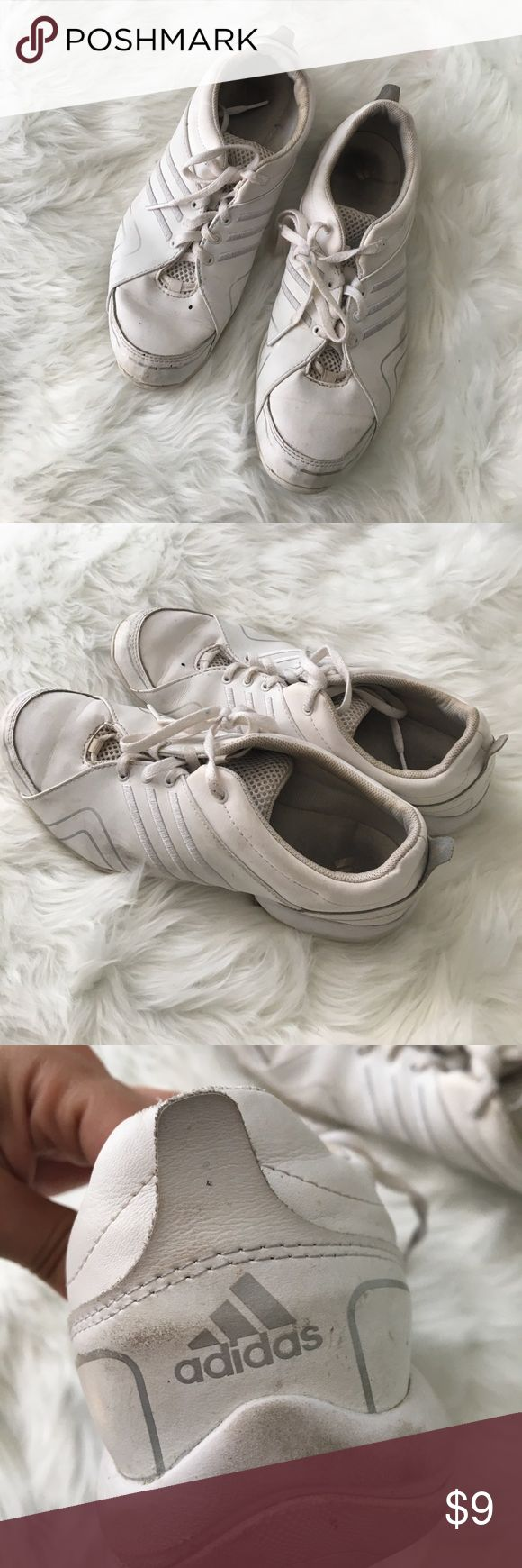 Adidas cheerleading/workout sneakers In good condition, very comfortable. A little scuffed up just need a good wash adidas Shoes Sneakers
