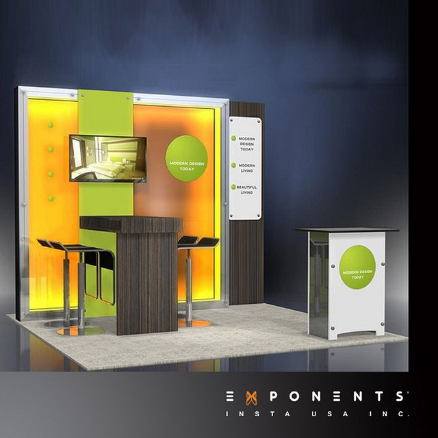 Modular Trade Show Booth Display By ExponentsUSA, Via Flickr. Exhibition  IdeasExhibition Booth DesignExhibition ...