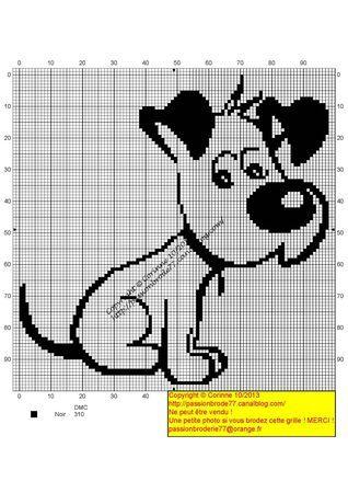 chien - dog - broderie - cross stitch- Chienchien - Point de croix - Blog : http://broderiemimie44.canalblog.com/