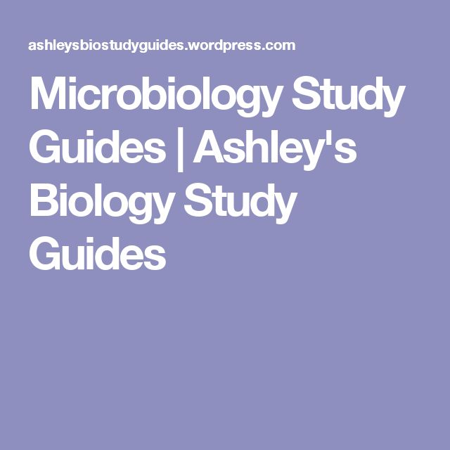 Microbiology Study Guides | Ashley's Biology Study Guides