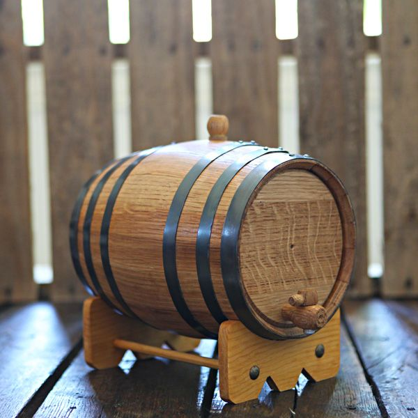 Handcrafted 5-liter Oak Barrel used to age your own beer, wine and liquor at home!  Add years of aging flavor in only weeks.  Age whiskey, bourbon, tequila, scotch, vodka, gin, hot sauce, vinegar, beer and wine!  Great for gifts, dad, grandfather, man room, man cave, home brewer, home distiller and wine maker.  Can be engraved for weddings & groomsmen gifts.  $89.99 at www.longhornbarrels.com