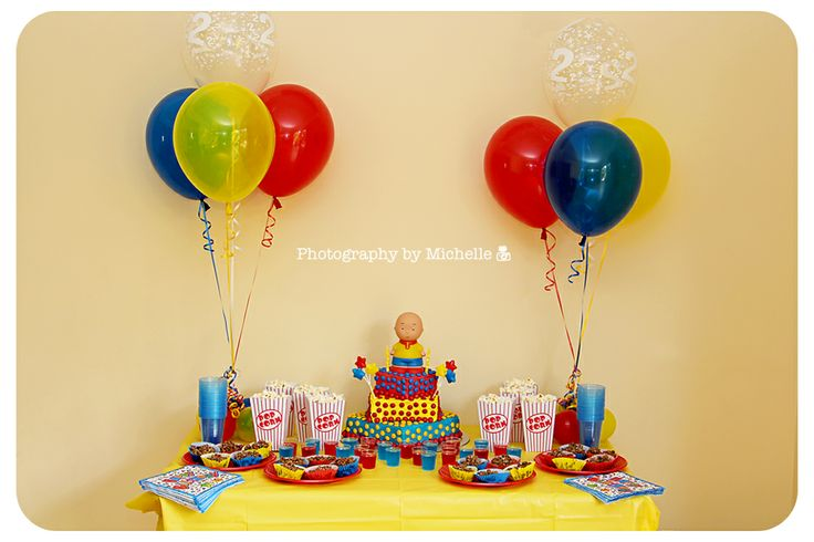 caliou birthday party | The theme of the party was Caillou, one of William's favourite ...