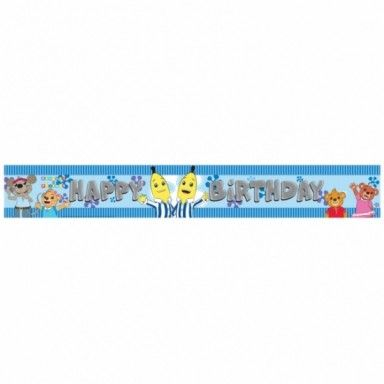 Treat the birthday girl/boy with a Bananas In Pyjamas Happy Birthday Banner, only £2.02!