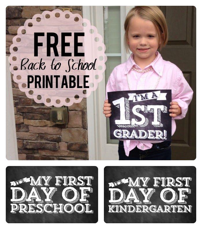 FREE Back to School Chalkboard Printables
