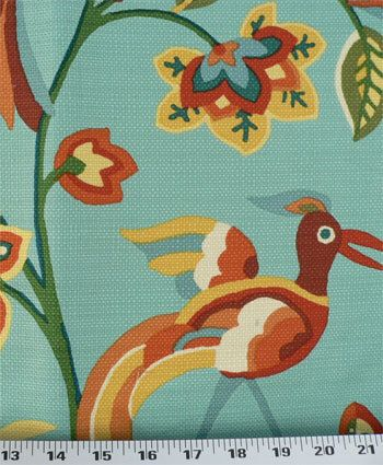 Birds Fabric, Flowers/Jungle/Animal Yardage,Woven Decorator Cotton, Upholstery/Drapery Pillow Material, Diy/Craft/Sewing Fabric, One Yard by EllensHomeAndVintage on Etsy https://www.etsy.com/listing/197329303/birds-fabric-flowersjungleanimal