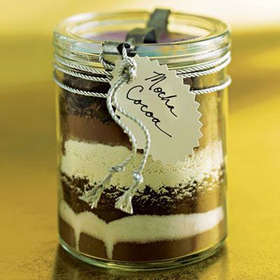 Gifts in a Jar: Holiday, Edible Gift, Recipe, Mocha Cocoa, In A Jar, Gift Ideas, Diy Gift, Christmas Gifts