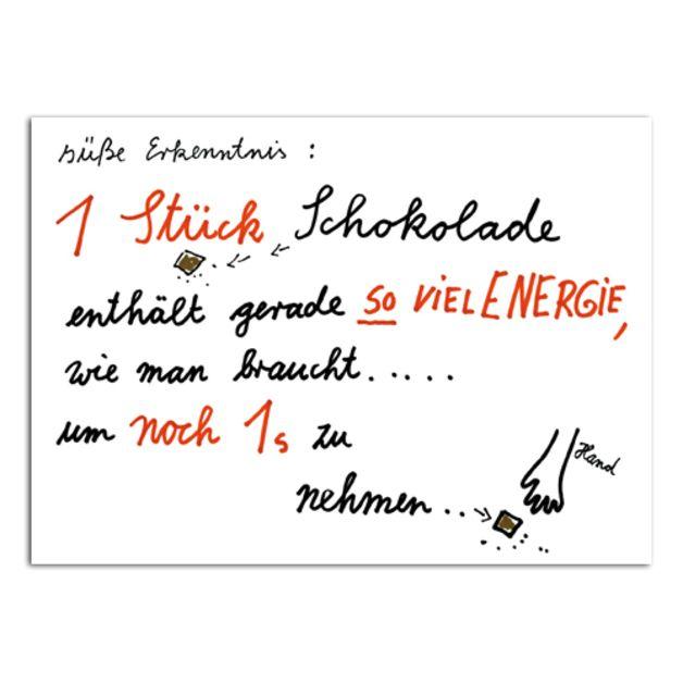 """Postkarte """"Schokolade"""" // typo postcard via DaWanda.com"""