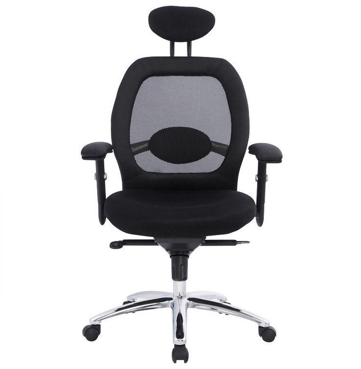 Fauteuil de bureau 'ERGO' noir design ergonomique et fonctionnel