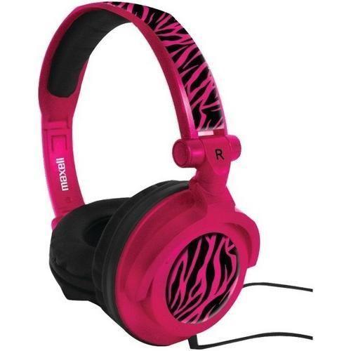 Maxell - AMPlified Heavy Bass Headphones (Hot Pink) H899-1770954