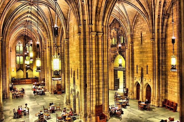 """The Cathedral of Learning is """"the world's tallest schoolhouse"""" and contains 26 Nationality Rooms used by the University of Pittsburgh. These rooms reflect the crafts, culture, and traditions of Pittsburgh's diverse ethnic groups."""