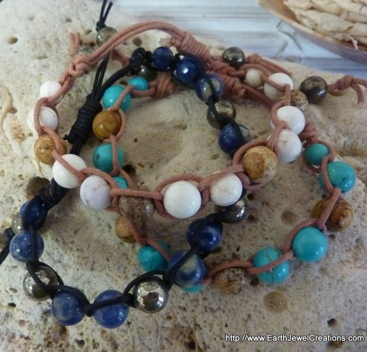 Woven Cord Bracelets - Inspirational handmade gemstone jewellery Earth Jewel Creations Australia