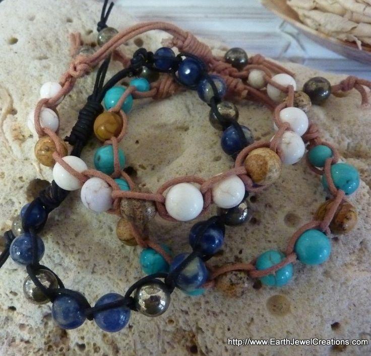 Woven Cord Bracelets - Inspirational handmade gemstone jewellery Earth Jewel Creations Australia
