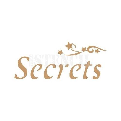 stencil deco texto 009 secrets