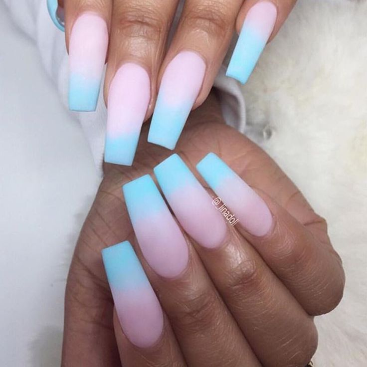 Cotton Candy Nail