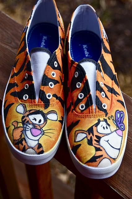 Chae Cherié custom, hand-painted shoes.  Yup, I love Winnie the Pooh and friends and would wear these.