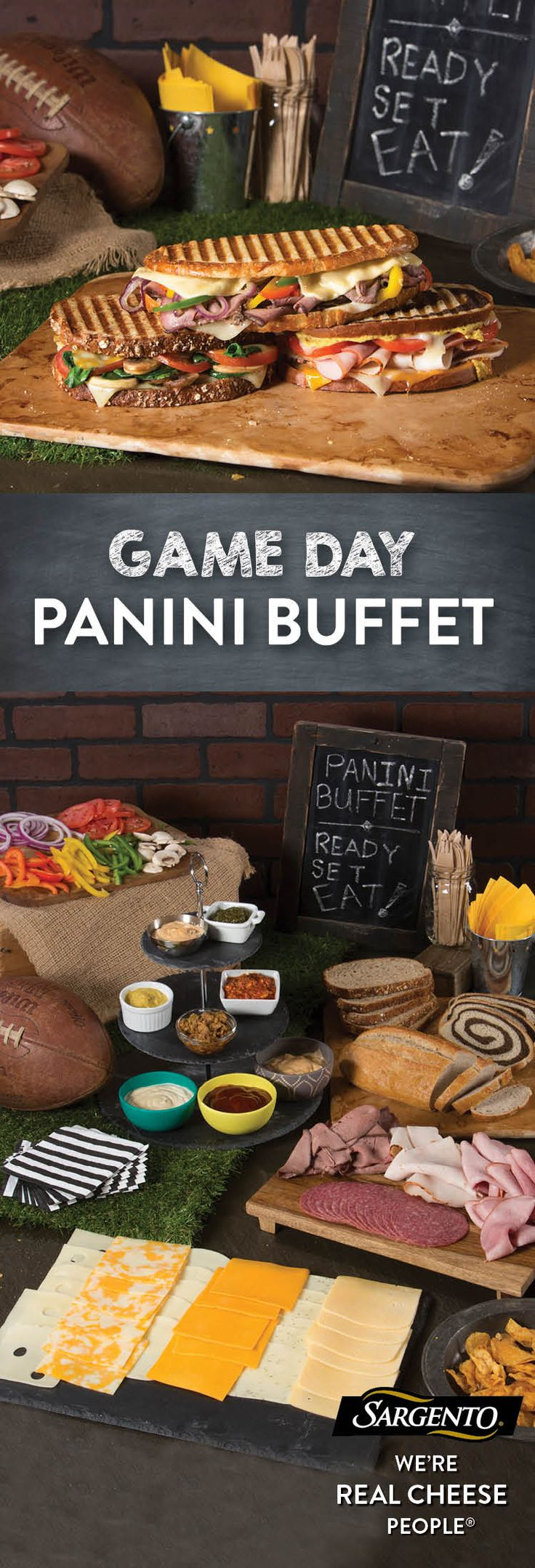 Up your Game Day game with a feast that's sure to surprise your guests. When it comes to football party food, you'll want your guests to have a supply of tasty noshes. This buffet combines the snack-like smorgasbord appeal of a buffet with the decadence of hot, gooey Panini. With our vast variety of 100% real, natural cheese slices, which range from traditional flavors like Mozzarella and Sharp Cheddar to innovations like Garlic and Herb Jack, there's no end to the combinations you can…