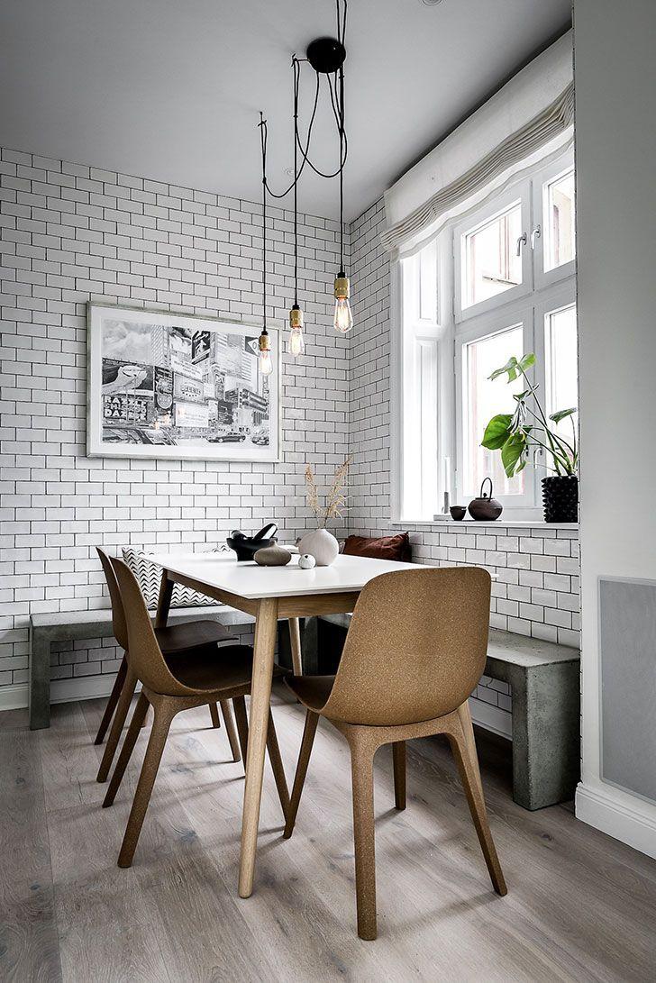 Elegance of dark shades apartment in stockholm 115 sqm interior design home decor idea inspiration cozy room style color light kitchen nook