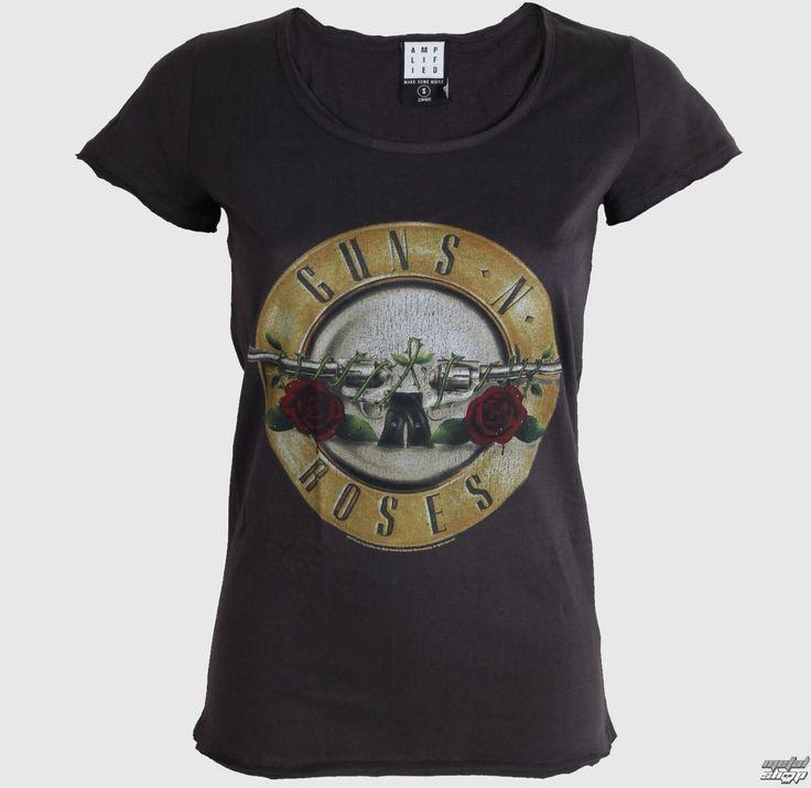tričko dámske AMPLIFIED - Gun's n Roses - Charcoal