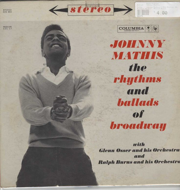 Johnny Mathis - The Rhythms And Ballads Of Broadway