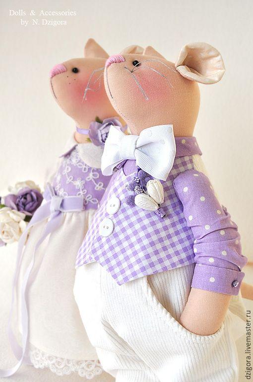Купить Mr. & Mrs. Mouse - сиреневый, мышки, мыши, игрушка мышка, игрушка мышь