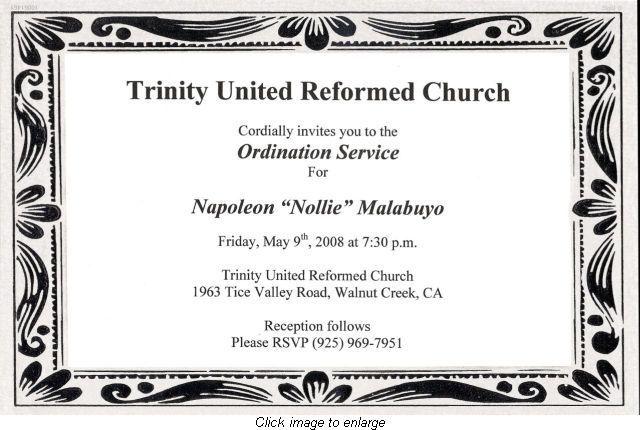 How to Write an Ordination Invitation   Invitations