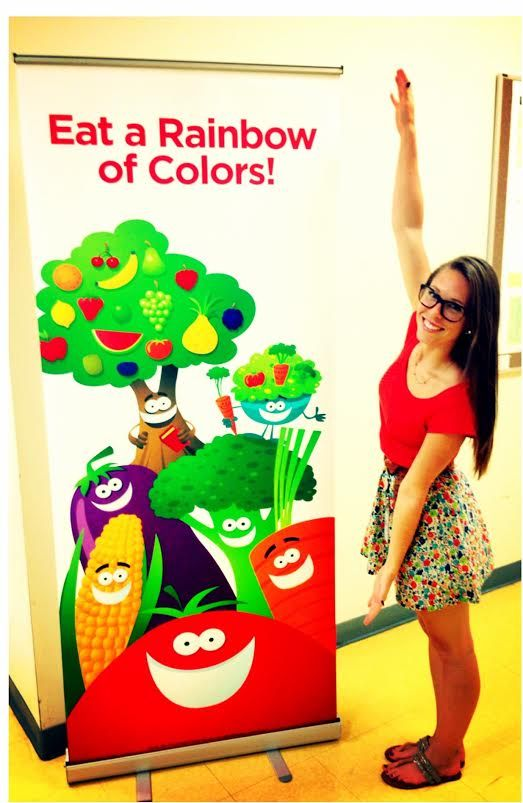 Our RD can't wait to distribute the new Nutrition Marketing coming to elementary schools soon! #eatyourcolors